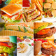 burgers and sandwiches collection on a collage - PhotoDune Item for Sale