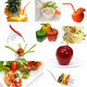Organic Vegetarian Vegan food collage  bright mood - PhotoDune Item for Sale