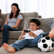 Cute Little Boy Playing Video Games and Parents Enjoying Watching - VideoHive Item for Sale