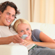 Cute Couple Watching TV  - VideoHive Item for Sale