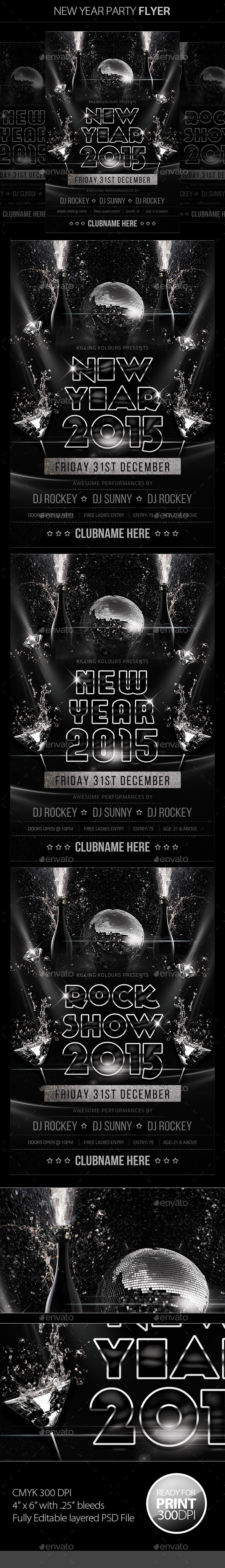 GraphicRiver New Year Party Flyer 9627999