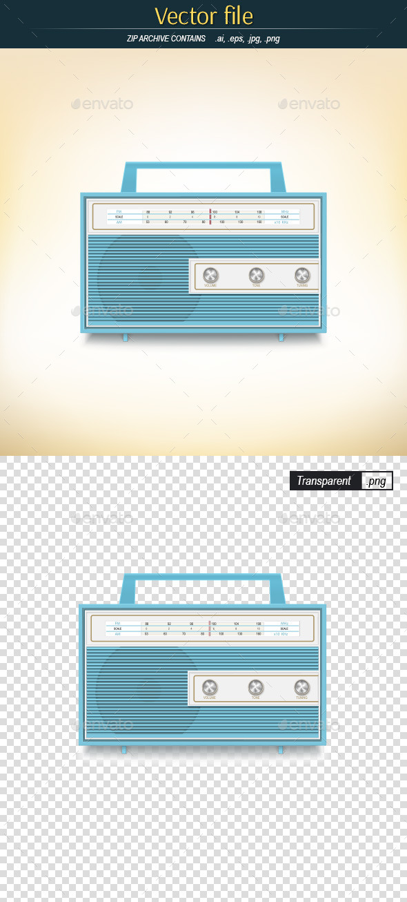 GraphicRiver Retro Radio 9628334