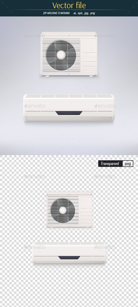 GraphicRiver White Air Conditioner 9628376