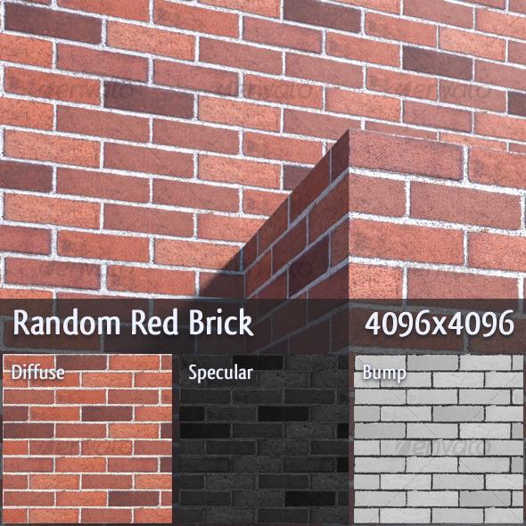Random Red Brick - 3DOcean Item for Sale