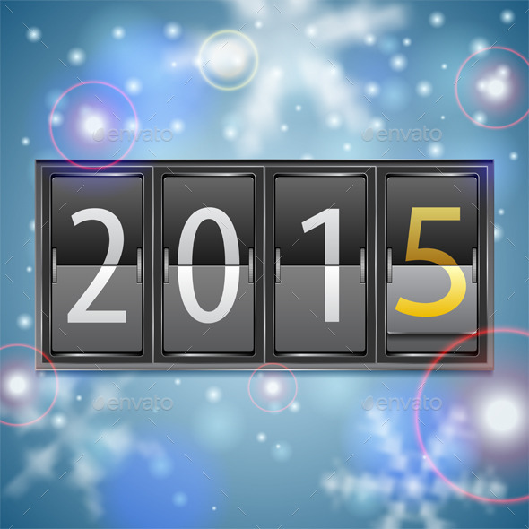 GraphicRiver New Year 2015 on Mechanical Timetable 9628587