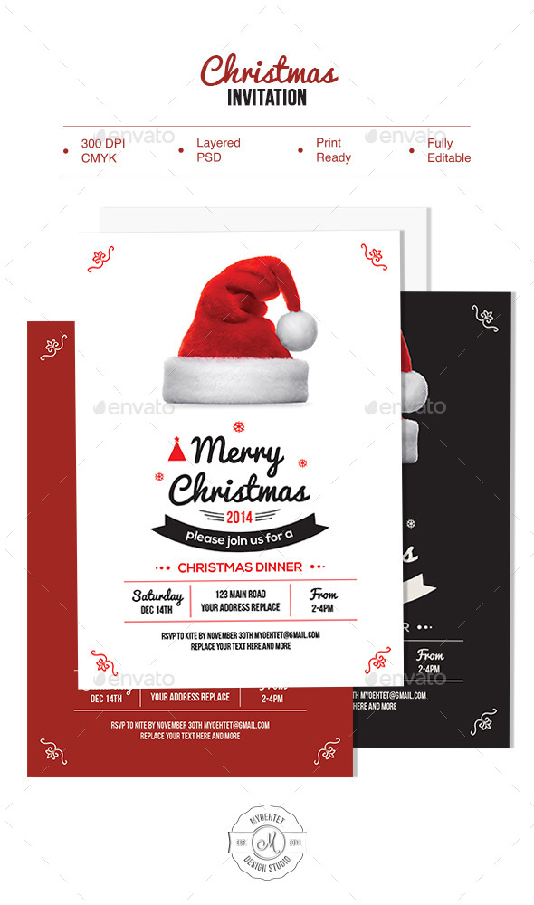 GraphicRiver Christmas Invitation 9628679