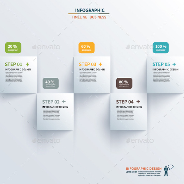 GraphicRiver Paper Square Timeline Infographic 9628683
