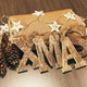 Christmas Decoration Still-Life with Wooden Ornaments - PhotoDune Item for Sale