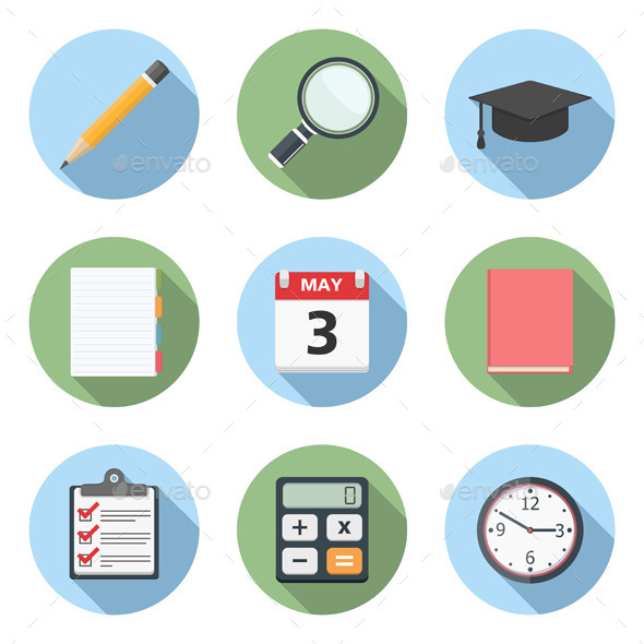 GraphicRiver Education Icons 9628809