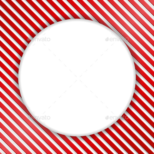 GraphicRiver Round Banner on Striped Background 9628812