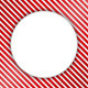 Round Banner on Striped Background - GraphicRiver Item for Sale