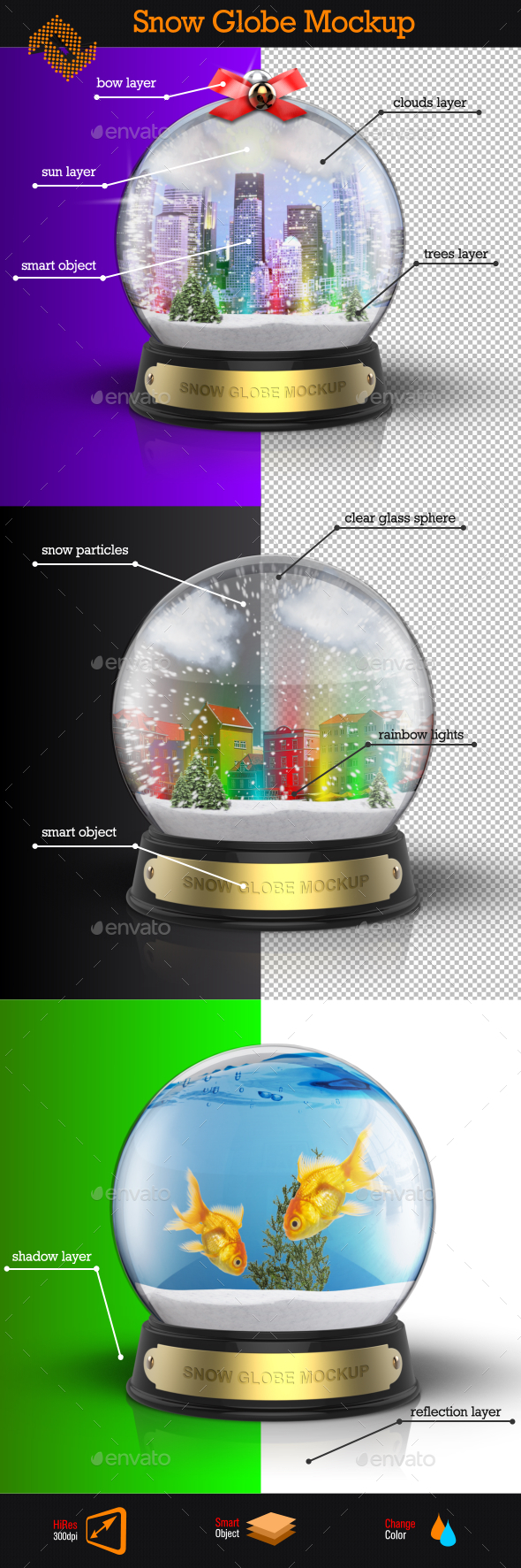 GraphicRiver Snow Globe Mockup 9628824