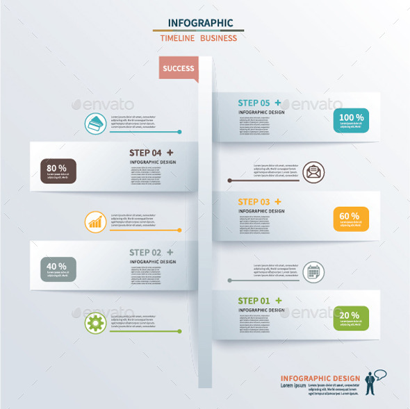 GraphicRiver Paper Tab Timeline Infographic 9628838