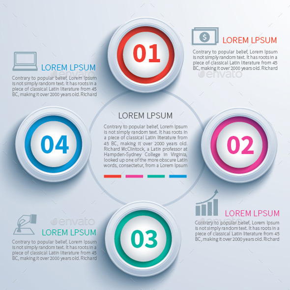 GraphicRiver Paper Circle Infographic 9628859