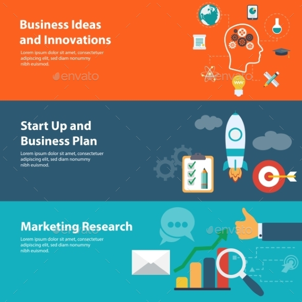 GraphicRiver Flat Design Concepts for Business and Marketing 9628966