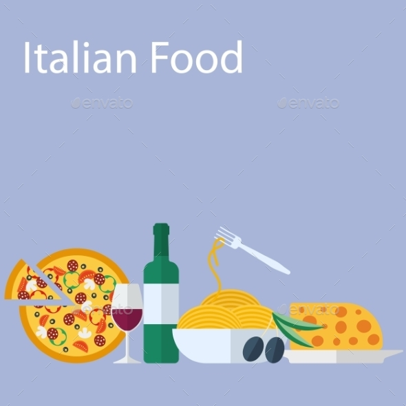 GraphicRiver Italian Food Background 9629055