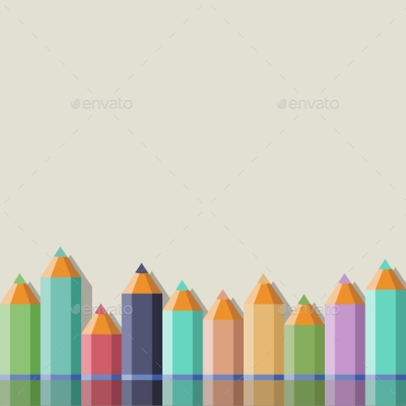 GraphicRiver Background with Color Pencils 9629058