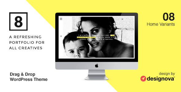 ThemeForest EIGHT Photographers & Creatives WordPress Theme 9575915