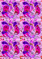 Pink Seamless Background with Purple and Crimson Paisley Patterns - PhotoDune Item for Sale
