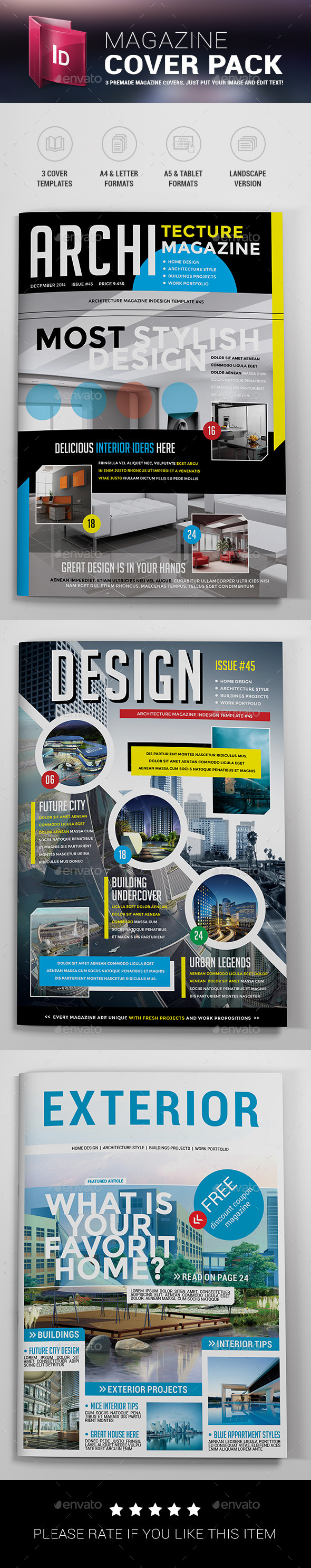 GraphicRiver Magazine Cover Templates 9629477