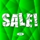 Sale Cut Paper Poster on Green Background - GraphicRiver Item for Sale