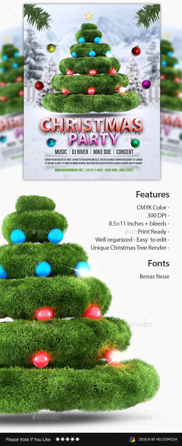 GraphicRiver Christmas Party Flyer 9585453