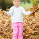Little Girl Have Fun In Autumn - PhotoDune Item for Sale