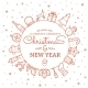 Line Style Christmas and New Year Greeting Banner  - GraphicRiver Item for Sale