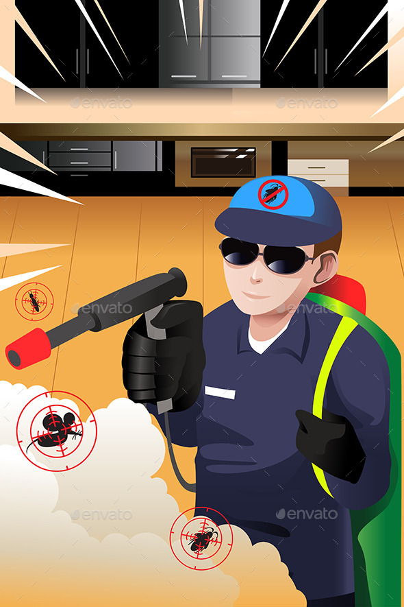 GraphicRiver Exterminator Man 9629955