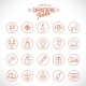Line Style Christmas and New Year Icon Set - GraphicRiver Item for Sale