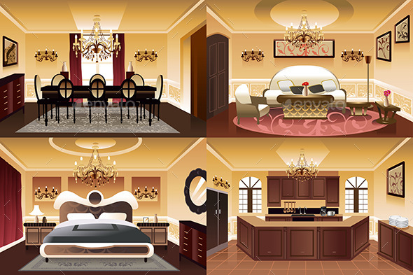 GraphicRiver Rooms Inside the house 9630004