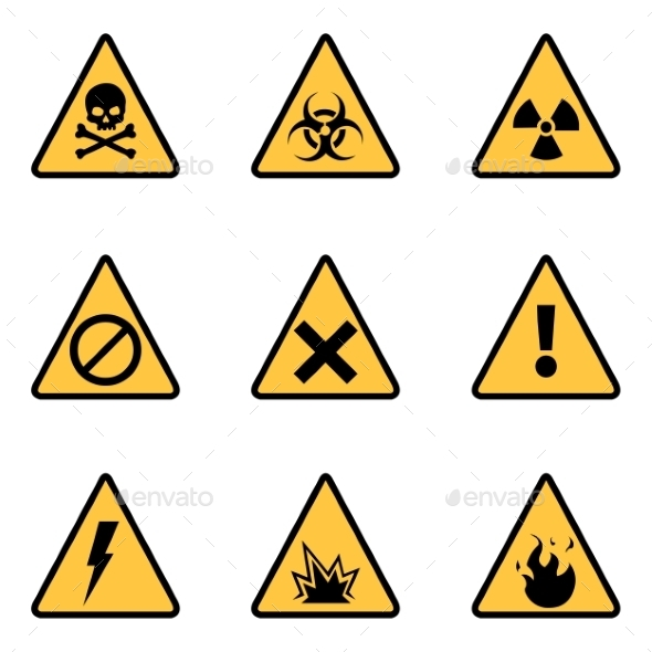 GraphicRiver Vector Set of Warning Icons 9630038