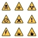 Vector Set of Warning Icons - GraphicRiver Item for Sale