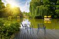 platform beside lake in park - PhotoDune Item for Sale