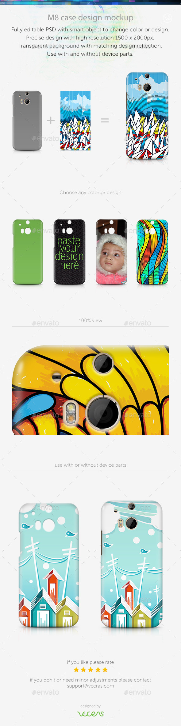 GraphicRiver M8 Case Design Mockup 9630272