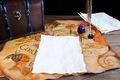 Antique desk with parchments - PhotoDune Item for Sale