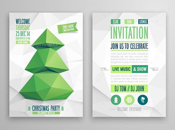 GraphicRiver Christmas Card Geometric Style 9630278