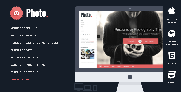 Photo - Responsive Photography WordPress Theme - Photography Creative