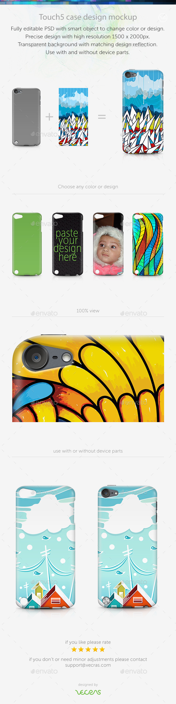 GraphicRiver Touch5 Case Design Mockup 9630283