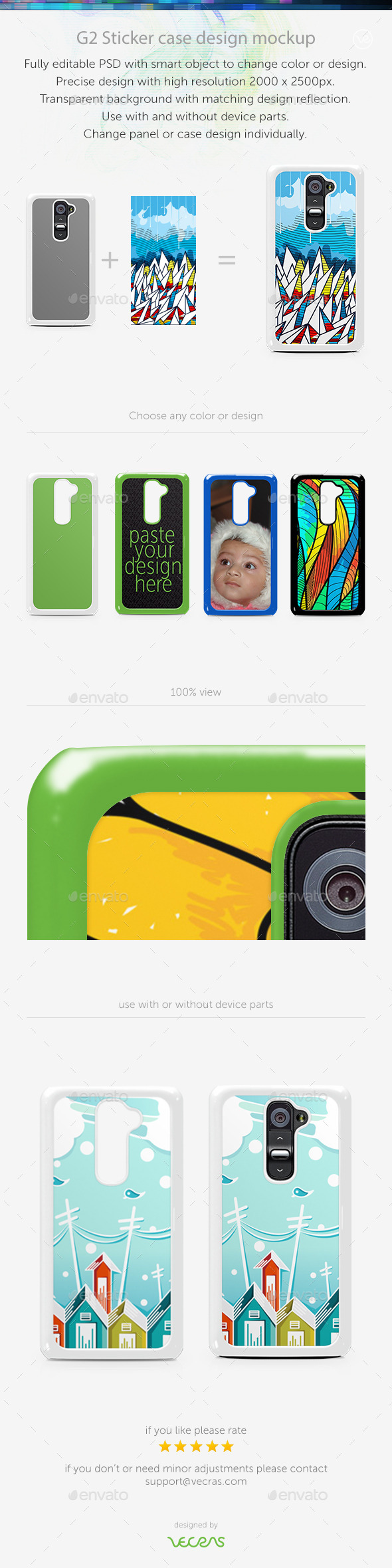GraphicRiver G2 Sticker Case Design Mockup 9630305