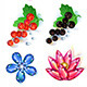 Gem Fruits - GraphicRiver Item for Sale