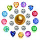 Round Composition Colored Gems Set - GraphicRiver Item for Sale