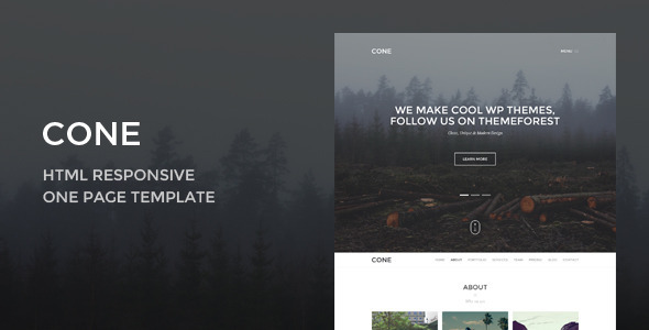 ThemeForest Cone Creative Onepage HTML Responsive Template 9556737