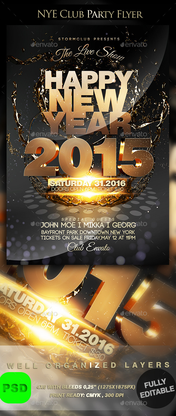 GraphicRiver NYE Club Party Flyer 9630442