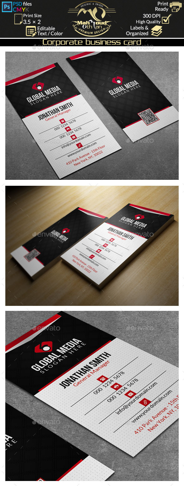 GraphicRiver Corporate Business Card 61 9630444