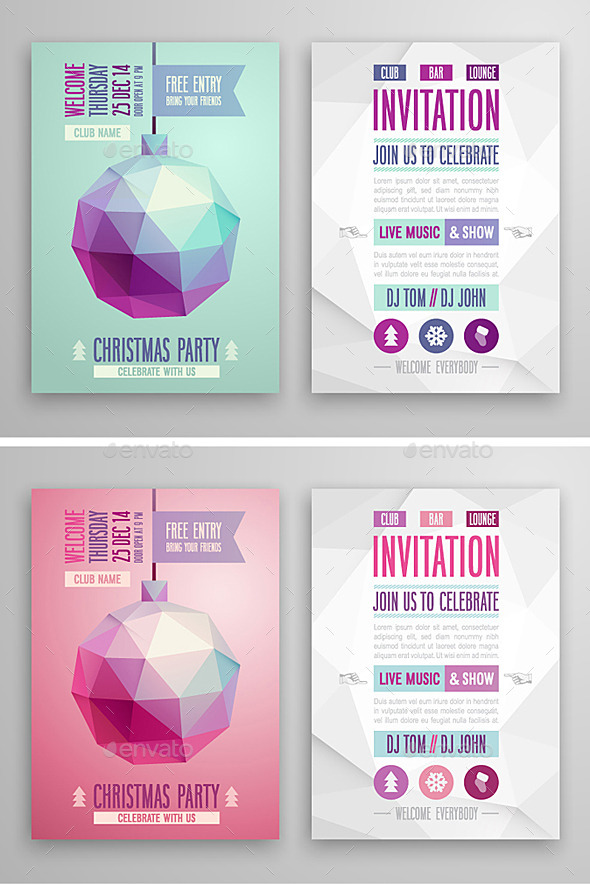 Geometric Christmas Cards