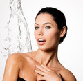 Woman with wet body and splashes of water - PhotoDune Item for Sale