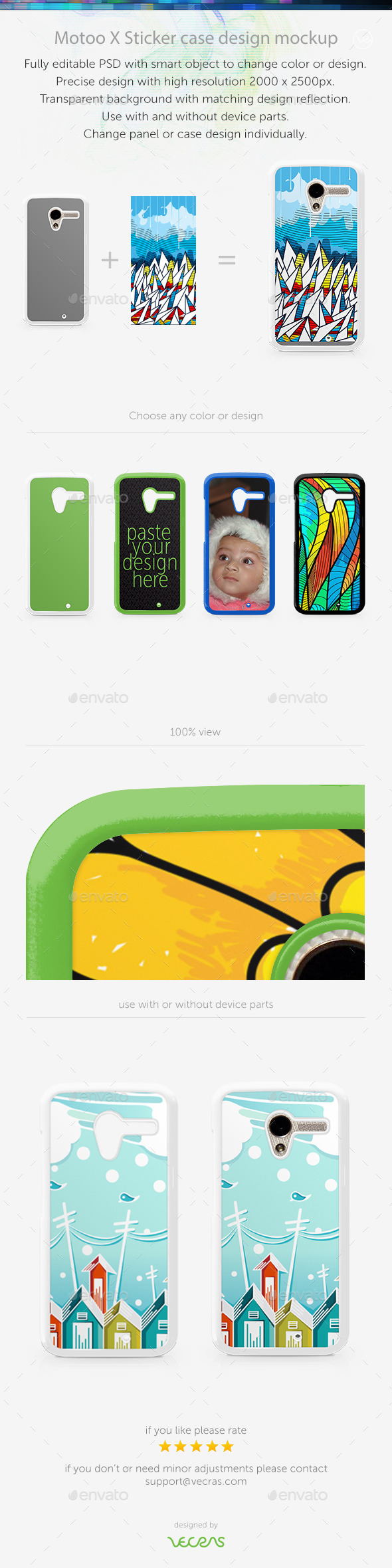 GraphicRiver Motoo X Sticker Case Design Mockup 9630831