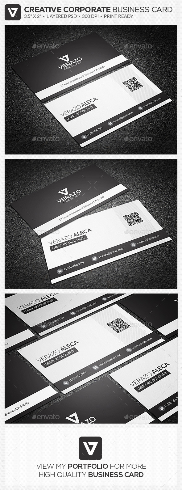 GraphicRiver Clean Corporate Business Card 64 9589949