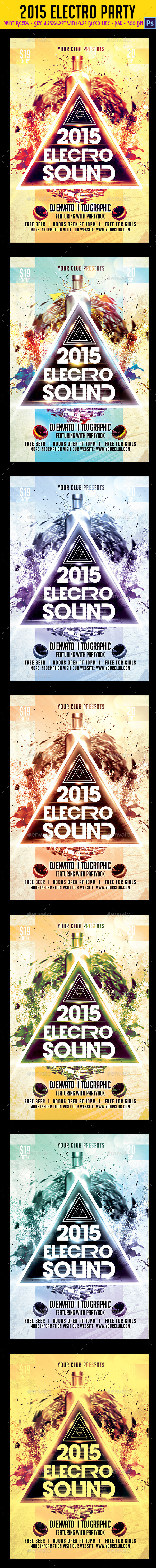 GraphicRiver 2015 Electro Party Flyer 9631005